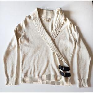 MICHAEL KORS Cream Buckle Sweater